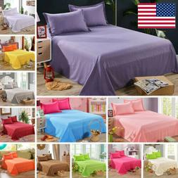 Bed Flat Sheets Twin Full Queen Size Bedding Fitted Sheet Pi