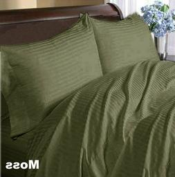 US Choice Duvet Collection 1000 TC Egyptian Cotton Moss Stri