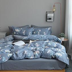 Vintage Flower Print Floral Duvet Cover Set Full Queen Luxur