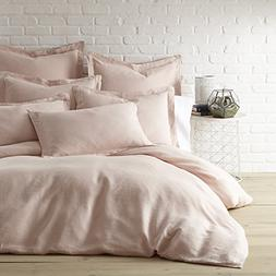 Levtex Washed Linen Blush Queen Duvet Cover