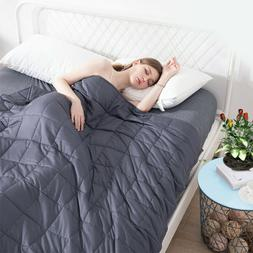 Weighted Blanket 15Lbs 60x80 Adult Queen Size Anxiety 100% B