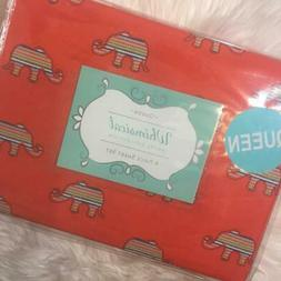 Whimsical Hotel Collection 4 pc Elephant QUEEN sheet Bed Set