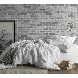 Byourbed White Pin Tuck Queen Duvet Cover