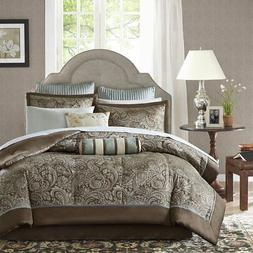 Madison Park Whitman Blue 12-piece King-size Bed in a Bag wi