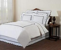 Wickham 100% Cotton Comfort Duvet Cover Rope Embroidered wit