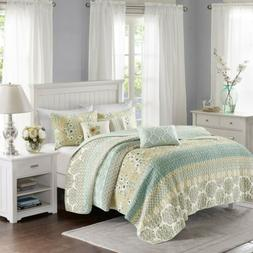 Madison Park Willa Full/Queen Size Quilt Bedding Set - Green