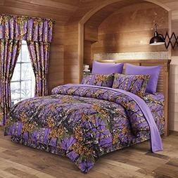 Regal Comfort The Woods Purple Camouflage Queen 8pc Premium
