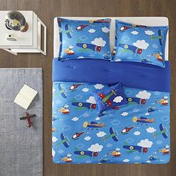 Full/Queen bedding for boys - Wright 4 Piece Cute Kids Beddi