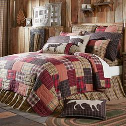 Wyatt Patchwork Queen,King Quilts-All Sizes-Choose Accessori