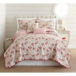 Zella 5 Piece Printed Reversible Quilt Set by Amrapur Overse